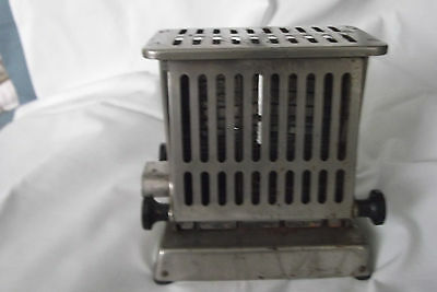 VINTAGE TOASTER-All Chromed Metal-Dates early 1900's-WORKS!!