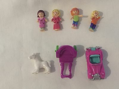 polly pocket 1994 Magical Mansion Figures   100% complete  RARE