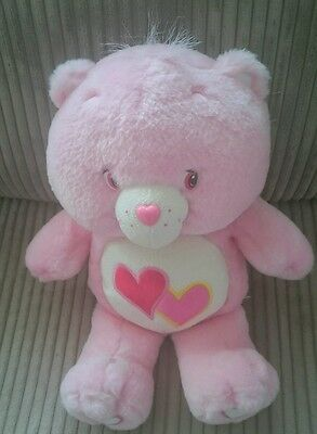 Care Bears Love a Lot Bear 2003 Soft Plush Toy Glows in Dark Never Played WITH!