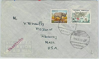 58326 -  ANGOLA - POSTAL HISTORY: COVER to ITALY - 1956 Lable TUBERCULOSIS