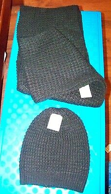 Target Brand Black Infinity Scarf and Matching Hat - NWT - Free Shipping