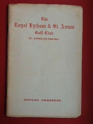 The Royal Lytham & St.Ann'es Golf Club,Handbook 1954