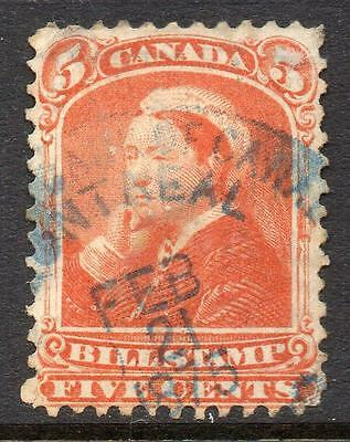 CANADA 1875 Bill Stamp  F.Used No Hidden Faults Good Sound  Collectable Stamp !!