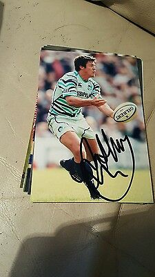England Rugby Player Anthony Allens Hand Signed Autograph