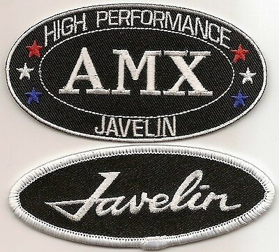 Amx Javelin Sew/iron On Patch Emblem Badge Embroidered Hot Rod Muscle Car Nhra