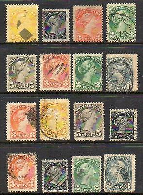 CANADA Quality Group of 16 Very Fine Used No Hidden Faults Good Looking Stamps