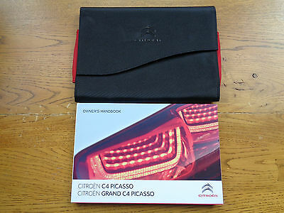Citroen C4 Picasso/Grand Picasso Owners Handbook/Manual and Wallet 13-15