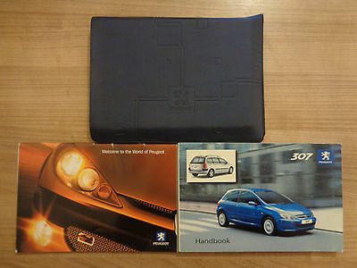 Peugeot 307 Owners Handbook/Manual and Wallet 00-05