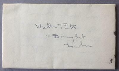 Letter addressed to William Pitt, Prime Minister, 10 Downing Street, ALS