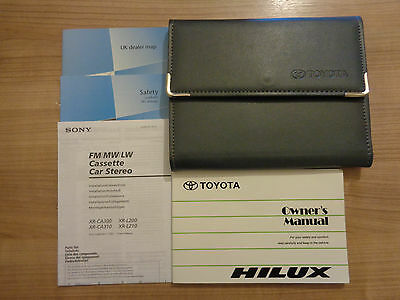Toyota Hilux Owners Handbook/Manual and Wallet