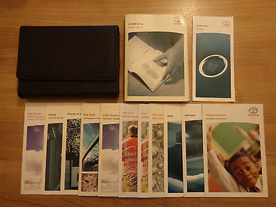 Toyota Corolla Verso Owners Handbook/Manual and Wallet 04-08