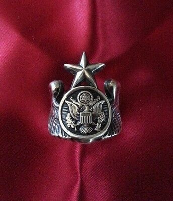 Sterling Silver Senior Enlisted Aircrew Wings Ring Sz 11.5