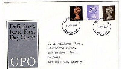 1967 Definitive Issue Gpo Fdc From Collection 3/07