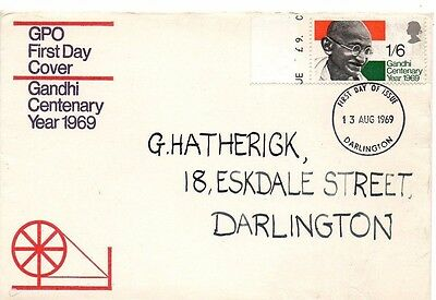 1969 Gandhi Centenary With Darlington Cds Fdc From Collection 5C/21
