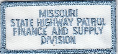 Missouri State Highway Patrol Finance & Supply Division Police Patch Mo