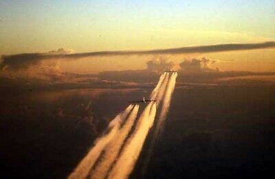 photo Air Force B-52 sunset on Linebacker 2 mission, 1972