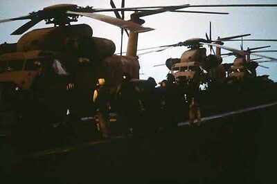 photo Navy RH-53D USS Nimitz Op. Evening Light Iran Hostage rescue 24Apr80 (13)
