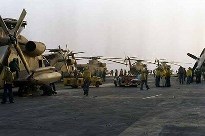 photo Navy RH-53D HM-16 Nimitz Op. Evening Light Iran Hostage rescue 24Apr80 (8)