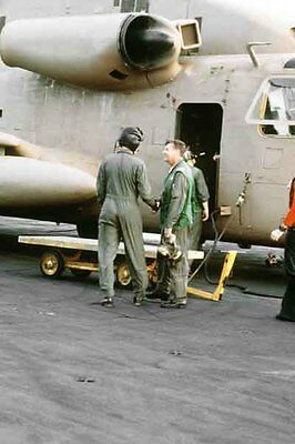 photo Navy RH-53D HM-16 Nimitz Op. Evening Light Iran Hostage rescue 24Apr80(19)