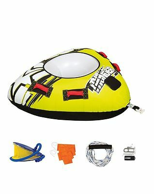 Jobe Thunder Package 1 Person Towable Inflatable Ringo Disc Tube Watersports Toy
