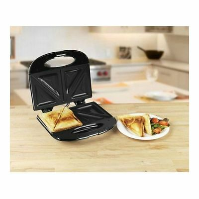 two Portion Sandwich Toaster in Black - Brand New UK Stock