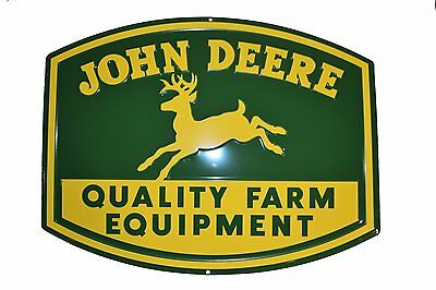 John Deere Metal 1950 Logo Embossed Quality Equipment Sign