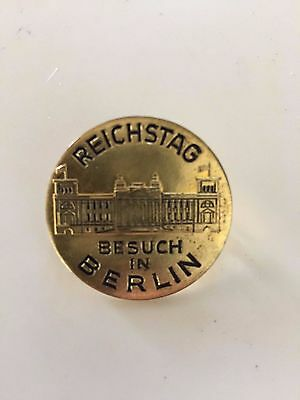 Vintage Berlin Reichstag visit pin, free shipping