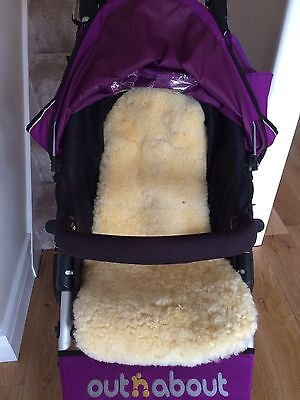 Wool Pushchair Seat Liner Ideal For Out And About 360