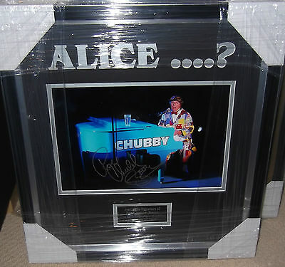 Who The **** Is Alice? Roy Chubby Brown Signed & Framed Photo - Comedy