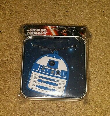 Star Wars r2d2 necklace with reusable tin