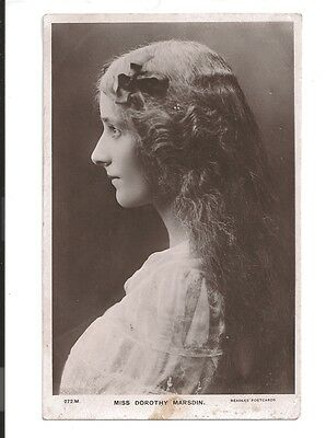 vintage postcard Miss dorothy marsdin actress real photo hairstyle and fashion