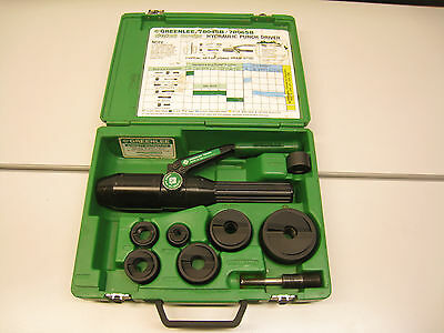 """Greenlee 7806SB 1/2"""" - 2"""" Hydraulic Knockout Punch Driver Kit Set Quick Draw"""