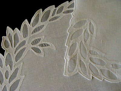 EXQUISITE 16pc Leron MADEIRA Linen Organdy Oval Placemats UNUSED Hand Embr TAG