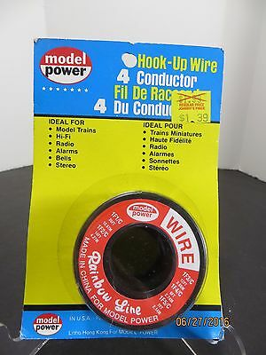 Vintage Model power Hook Up Wire 4 Conductor Sealed