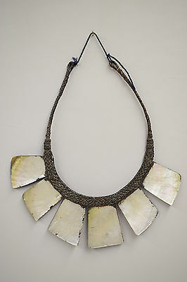Necklace Shell Mother of Pearl Status Necklace Philippine Tribal Ifugao