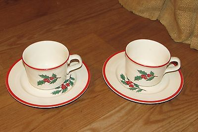 4 Pieces of Holly Spruce Taylor Smith & Taylor China #1519