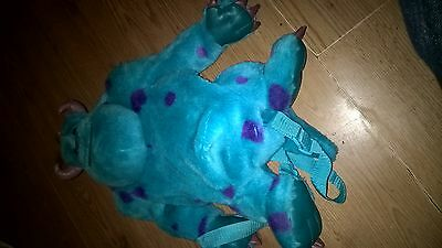 Monsters Inc Backpack/rucksack. 'sully'  Good/very Condition
