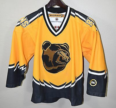 BOSTON BRUINS POOH Bear Hockey Jersey YOUTH S M Koho NHL Boys ... 30e1754fb