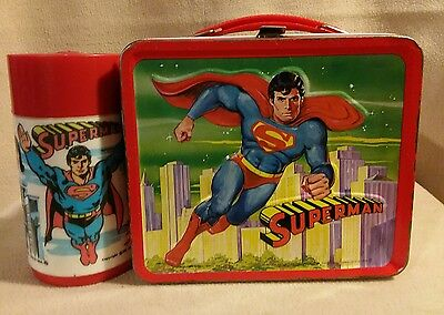 Superman Lunch Box with Thermos Aladdin Industries 1978
