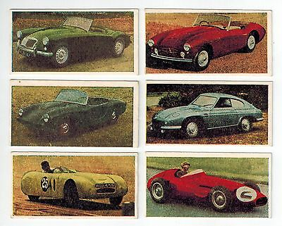 Universal Confectionery Co - Automobile Series 1 Collector Cards (6) Racing Cars