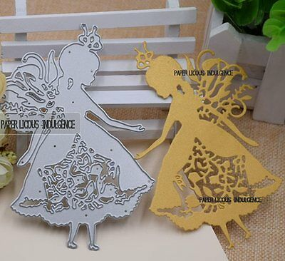 New• Gorgeous •• Large Princess Fairy Girl  Die • •fits Cuttlebug  Sizzix