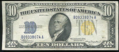 """Fr. 2309 1934-A $10 Ten Dollars """"North Africa"""" Silver Certificate Extremely Fine"""