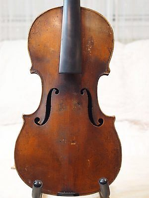 Interesting Old Antique Vintage French  Violin Labeled Paul Bailly 1908