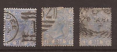 Great Britain, 1880, 2 1/2d, SG 142, Pl 17, 18 & 20, used