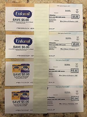 $20.00 WORTH OF ENFAMIL COUPONS (expire 3-31-2017)