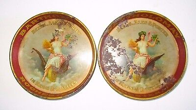 TWO Early Bartholomay Rochester NY Beer Ale Porter Tip Trays