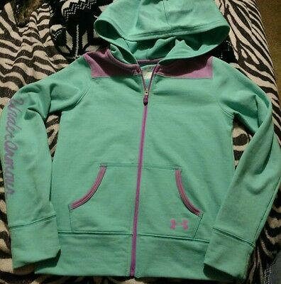 Girls (Ysm) Cute- Green/teal- Under Armour- All Season Gear- Zip Up Hoodie