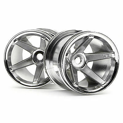 HPI S.S. Truck Wheels Front (Chrome/2.2In/2Pcs) - 2125