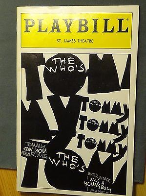 Playbill The Who's Tommy, St. James Theatre 1994 Michael Cerveris