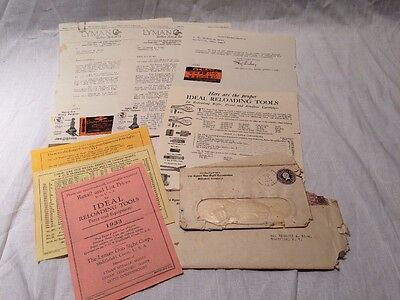 1933 Lyman Gun Sight Corporation Retail Letters And Pricing Flyers